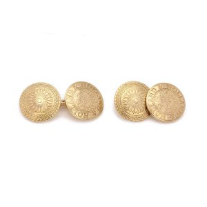 Holland and Holland 18ct Yellow Gold Double Sided Cufflinks