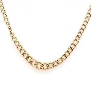 Vintage 9ct Yellow Gold Graduated Trace Chain Necklace