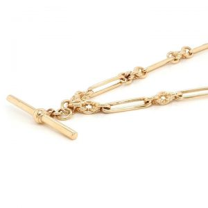 Vintage 9ct Yellow Gold Albert Chain Necklace