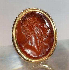 18th Century Antique Cornelian Intaglio Fob Seal