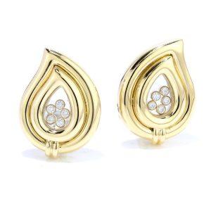 Chopard Happy Diamonds 18ct Yellow Gold Clip On Earrings
