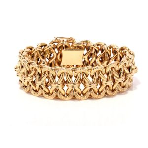 Antique French 18ct Yellow Gold Bracelet