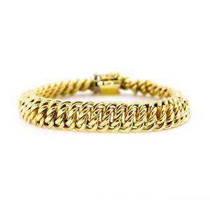 Vintage Double Curb Gold Bracelet