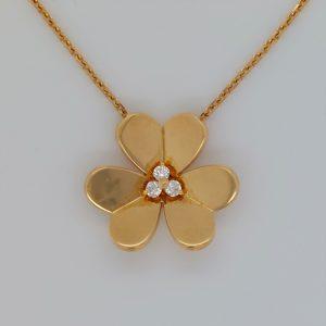 Vintage Van Cleef & Arpels Frivole Diamond Pendant Necklace
